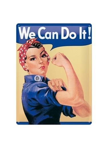 Nostalgic Art We can do it Metal Pano Renkli